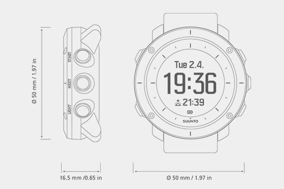 Suunto Ambit Watch Measurements